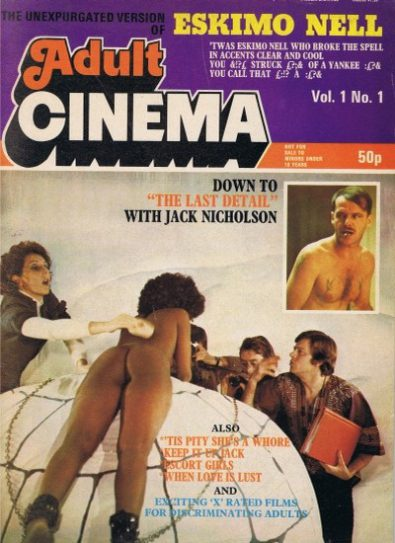 Front cover of Adult Cinema Volume 1 No 1 magazine