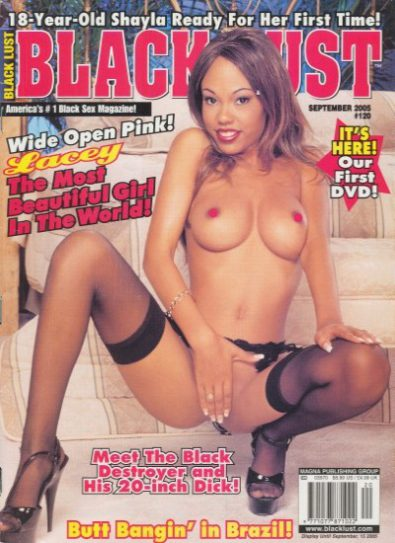 Front cover of Black Lust No 120 magazine