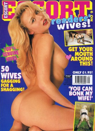 Front cover of Escort Readers Wives No 9 magazine