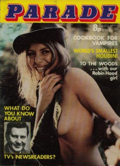 Front cover of Parade February 26th 1972 magazine