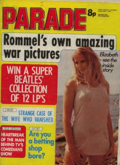 Front cover of Parade February 3rd 1973 magazine