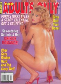 Front cover of Swank's for Adults Only February 1999 magazine
