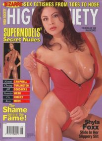Front cover of High Society August 1996 magazine
