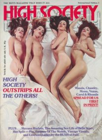 Front cover of High Society International Issue 3 magazine