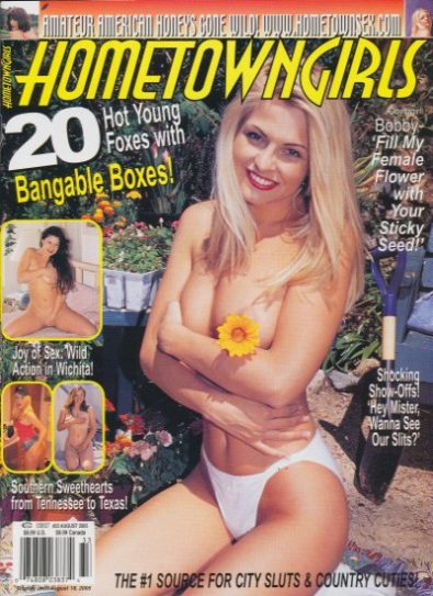Front cover of Hometown Girls No 33 August 2005 magazine