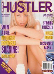 Front cover of Hustler Vol 1 No 1 magazine
