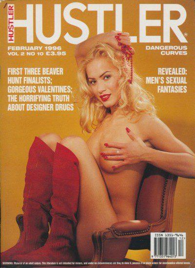 Front cover of Hustler Vol 2 No 10 magazine