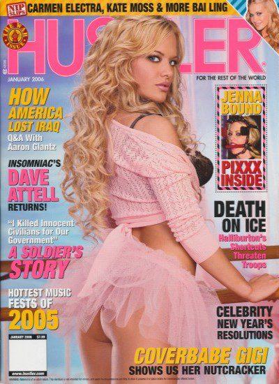 Front cover of Hustler January 2006 magazine