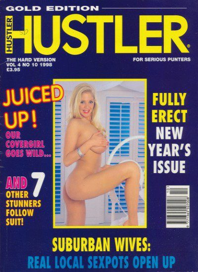 Front cover of Hustler Volume 4 No 10 magazine