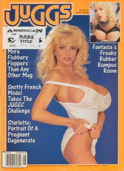 Front cover of Juggs August 1995 magazine