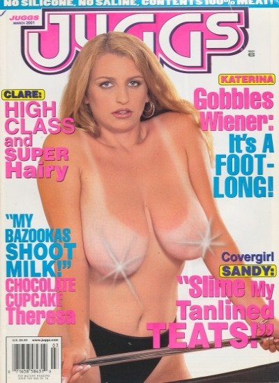 Front cover of Juggs March 2001 magazine