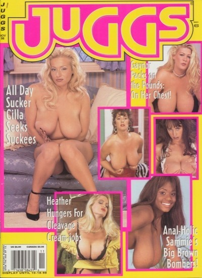 Front cover of Juggs November 1998 magazine