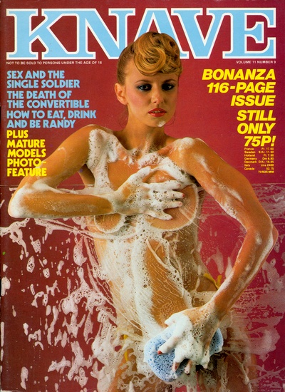 Front cover of Knave Volume 11 No 9 magazine
