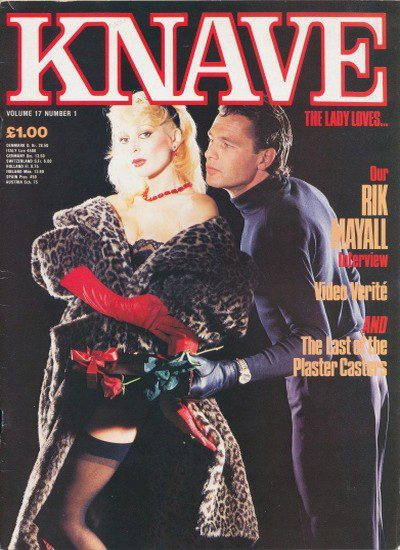 Front cover of Knave Volume 17 No 1 magazine