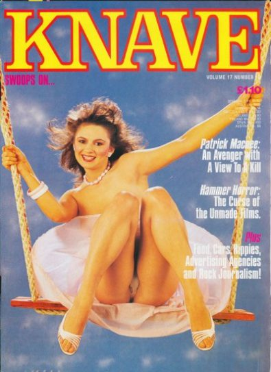 Front cover of Knave Volume 17 No 10 magazine