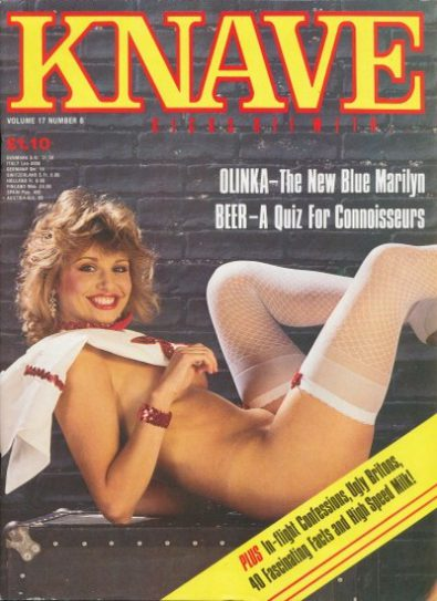 Front cover of Knave Volume 17 Number 8 magazine