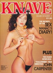 Front cover of Knave Volume 18 Number 12 magazine