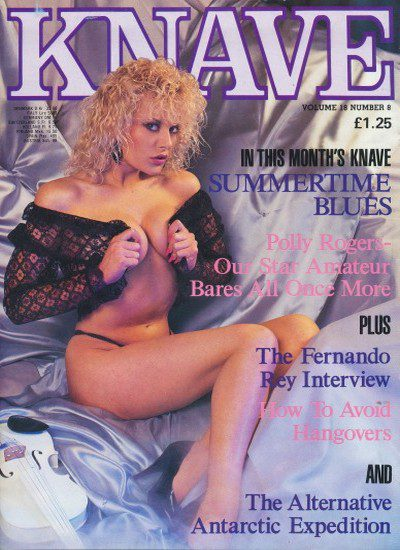 Front cover of Knave Volume 18 Number 8 magazine