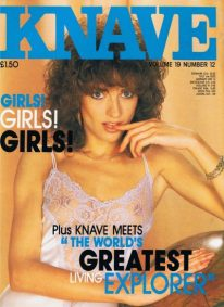 Front cover of Knave Volume 19 No 12 magazine