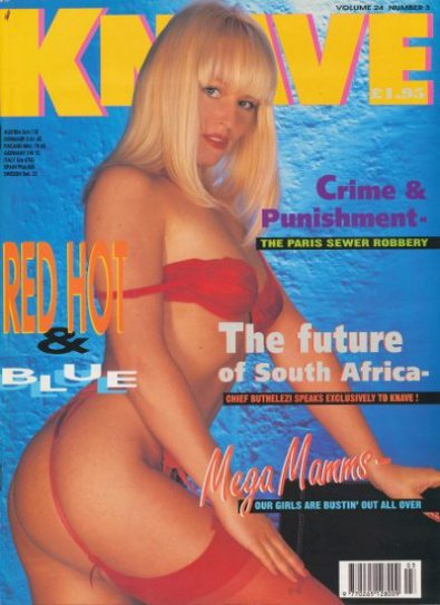 Front cover of Knave Volume 24 Number 3 magazine
