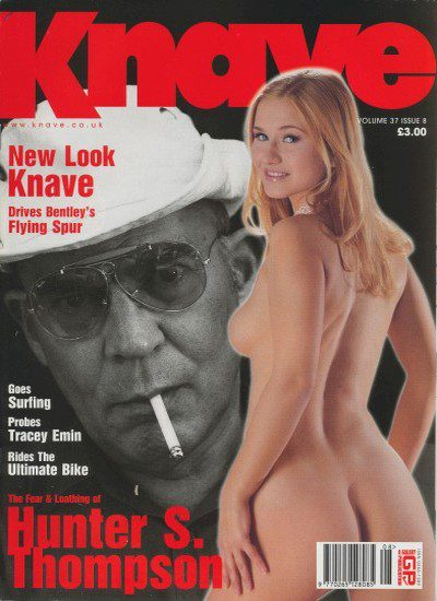 Front cover of Knave Volume 37 Issue 8 magazine