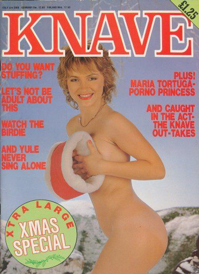 Front cover of Knave Christmas 1982 magazine