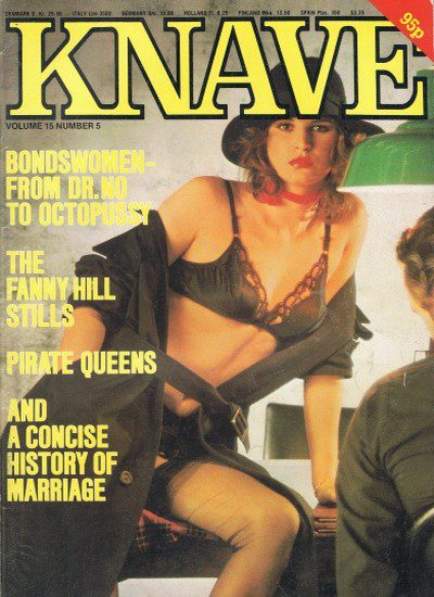 Front cover of Knave Volume 15 No 5 magazine