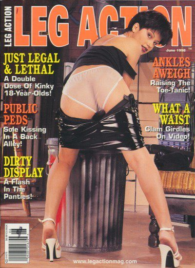 Front cover of Leg Action June 1998 magazine