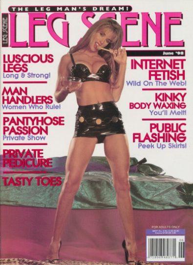Front cover of Leg Scene June 1998 magazine