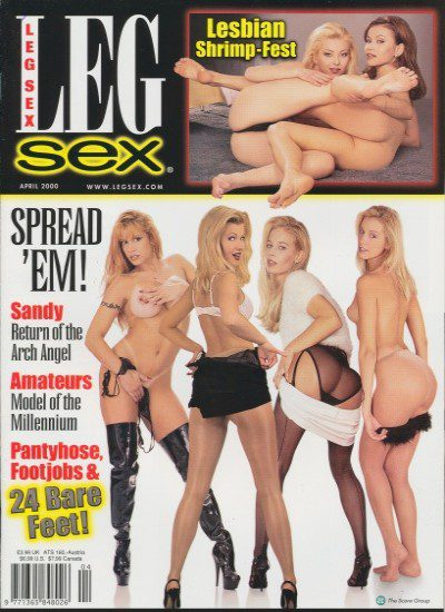 Front cover of Leg Sex April 2000 magazine