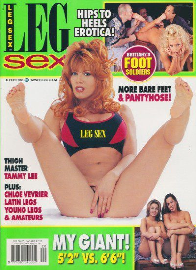 Front cover of Leg Sex August 1998 magazine