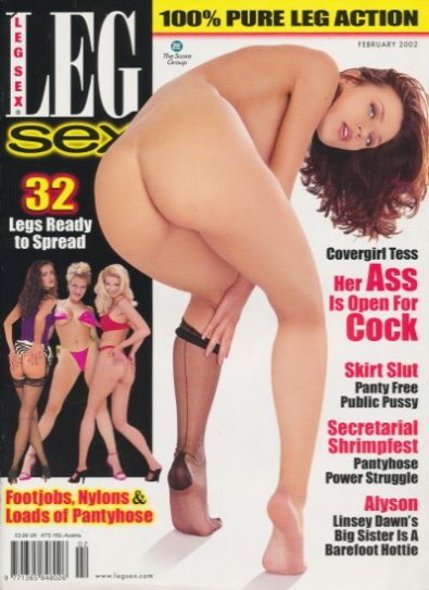 Front cover of Leg Sex-February 2002 magazine