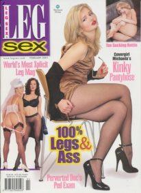 Front cover of Leg Sex February 2001 magazine