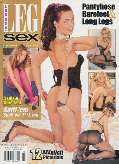 Front cover of Leg Sex June 2000 magazine