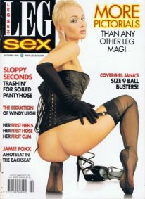 Front cover of Leg Sex October 1998 magazine