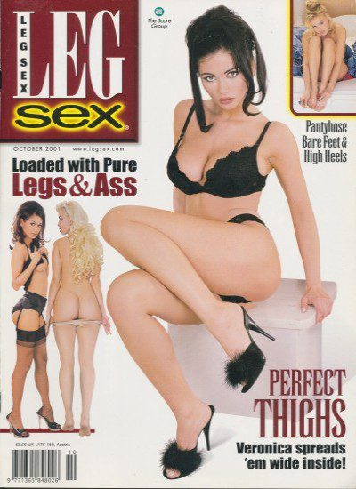 Front cover of Leg Sex October 2001 magazine