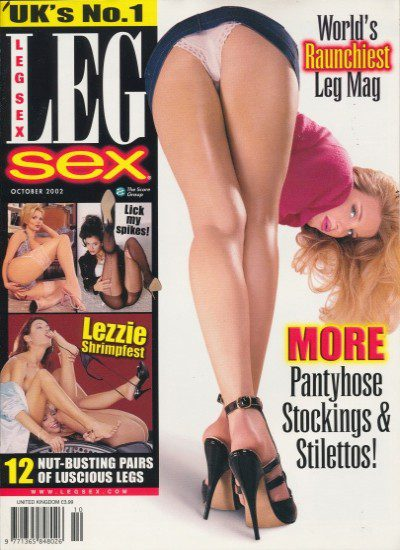 Front cover of Leg Sex October 2002 magazine