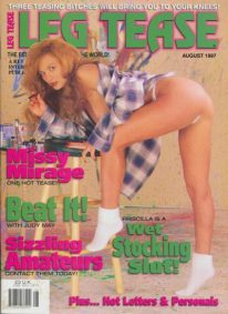 Front cover of Leg Tease August 1997 magazine
