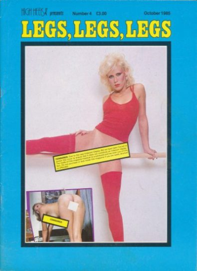 Front cover of Legs Legs Legs October 1985 magazine