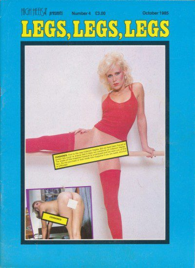 Front cover of Legs Legs Legs October 1985 magazine