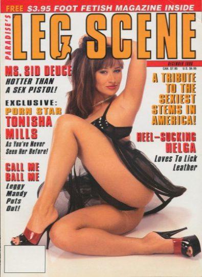 Front cover of Leg Scene December 1996 magazine