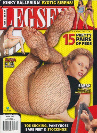 Front cover of Leg Sex April 2007 magazine