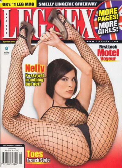 Front cover of Leg Sex August 2008 magazine