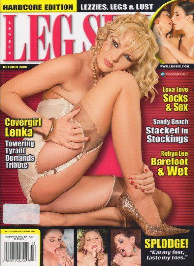 Front cover of Leg Sex October 2008 magazine