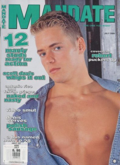 Front cover of Mandate July 2000 magazine