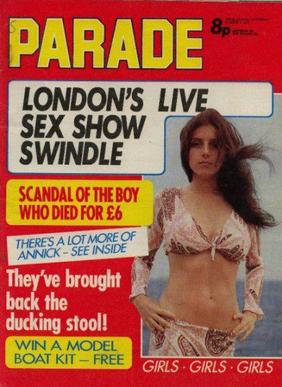 Front cover of Parade March 3rd 1973 magazine