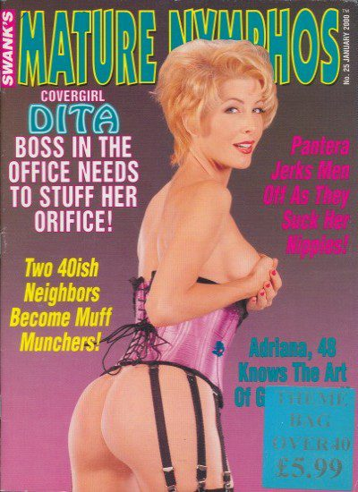 Front cover of Mature Nymphos January 2000 magazine