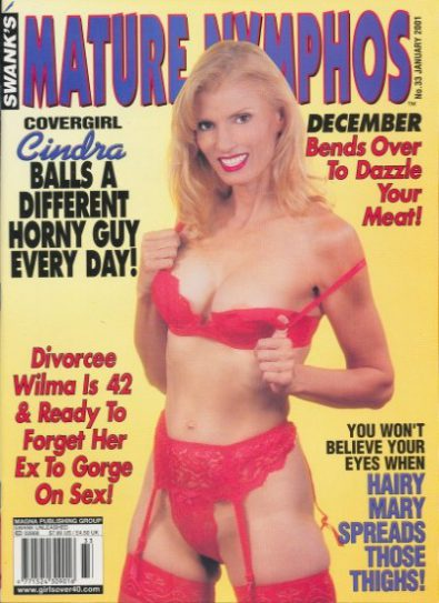 Front cover of Mature Nymphos January 2001 magazine