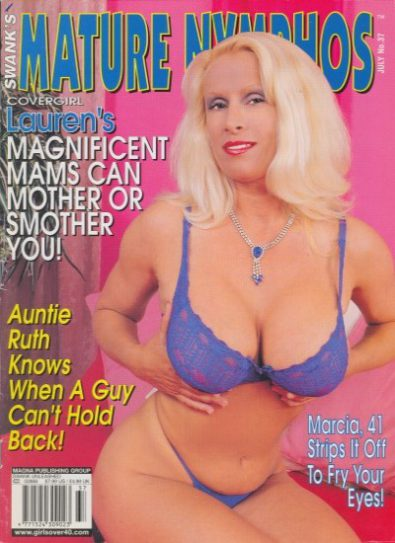Front cover of Mature Nymphos July 2001 magazine
