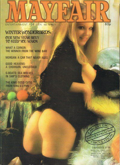 Front cover of Mayfair Volume 13 No 1 magazine